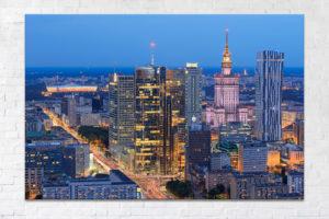Niebieskie Centrum Warszawy - Fotoobraz